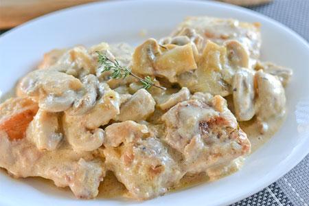 انواع پخت مرغ,پخت غذاهای ایتالیایی,طرز تهیه مرغ خامه ای,طرز تهیه مرغ به روش ایتالیایی