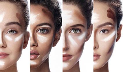 آموزش کوچک کردن بینی با آرایش,آرایش انواع بینی,آرایش دماغ