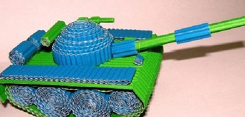 ساخت تانک,ساخت تانک با مقوا,ساخت عروسک تانک,روش ساخت عروسک تانک