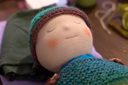 ساخت عروسک بچه گانه والدورف,دوخت عروسک بچه گانه والدورف