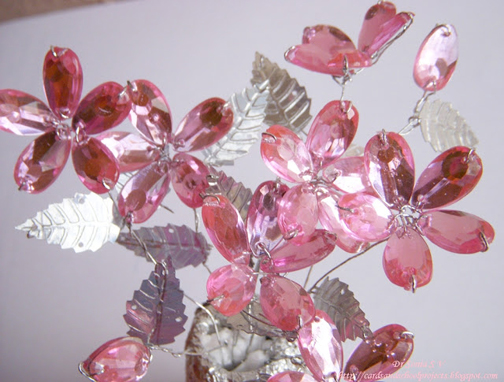 آموزش گلهای کریستالی,آموزش گل های کریستالی,مدل گلهای کریستالی