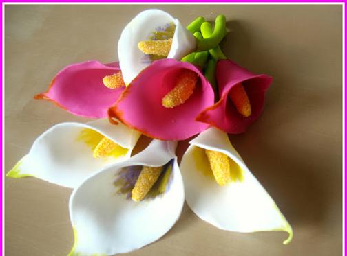 ساخت کاردستی تزئینی با خمیر چینی,ساخت انواع گل با خمیر چینی