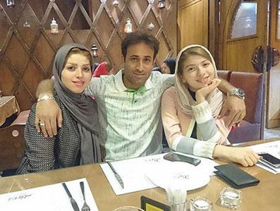 مهدی رجب زاده در کنار همسر و دختر عزیزش