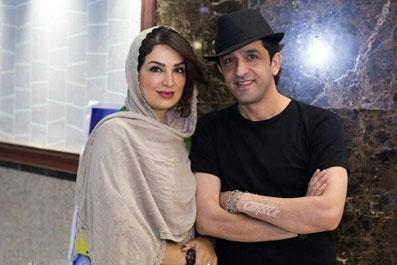 مجید یاسر و همسرش مهشید حبیبی