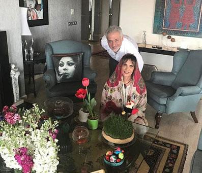 مجید مشیری و همسر عزیزش