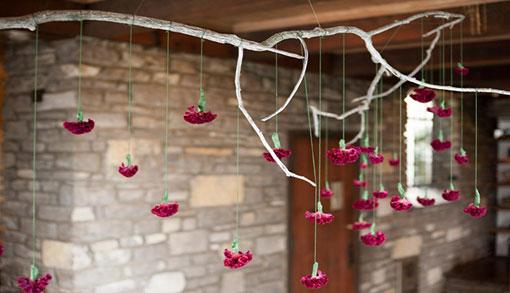 گلهای خشک هنر تزئین خانه