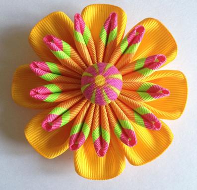 مدل گل,مدل های گلسازی,مدل گل های روبانی,گلهای روبانی