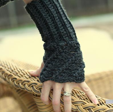دستکش بدون انگشت قلاب بافی,ساق دست بدون انگشت,بافت ساق دست بدون انگشت