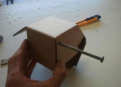 آموزش ساخت قلک با مقوا,آموزش تصویری کاردستی