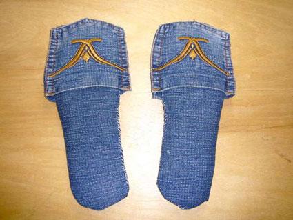 ساخت کفش پارچه ای با شلوار جین,دوخت دمپایی با شلوار جین,ساخت دمپایی با شلوار جین