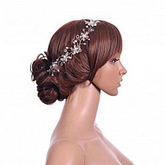 ساخت تل سر کریستالی,ساخت گل سر برای عروس