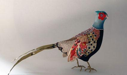 ساخت گنجشک,ساخت پرنده,دوخت عروسک پرنده با پارچه